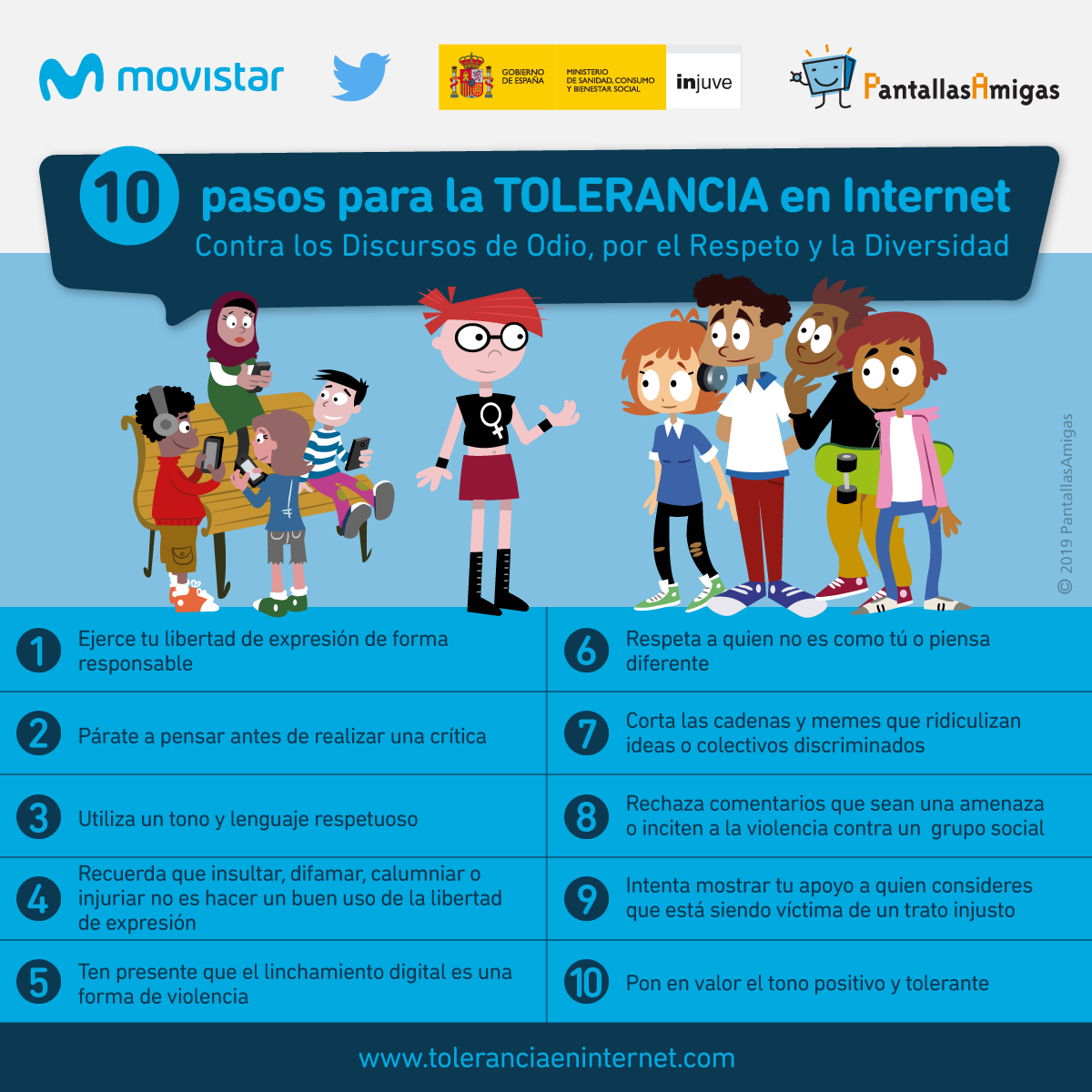10 Pasos para la Tolerancia en Internet [recopilatorio]